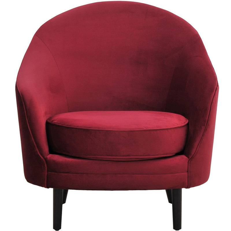 Luxe Claret Occasional Chair