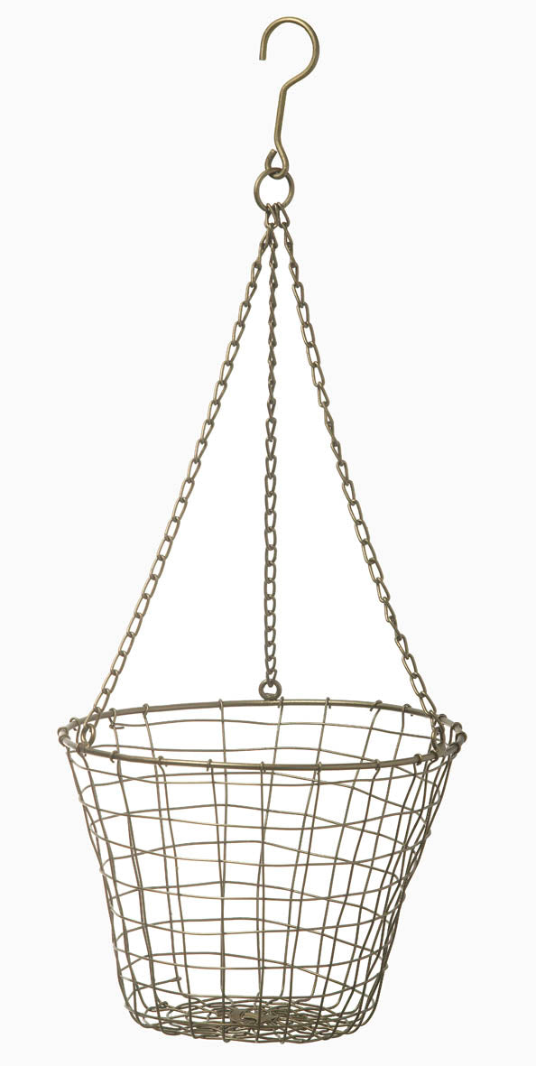 Bronze Hanging Basket Small