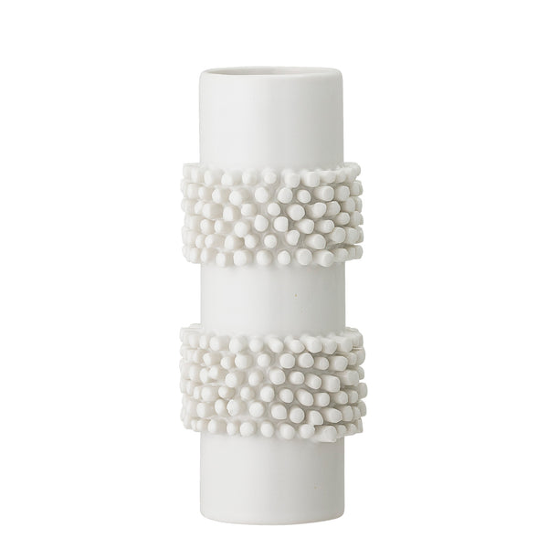 Cream Cylinder Bobble Vase
