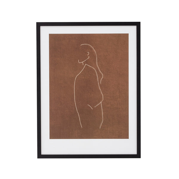 Female Figure Print with Black Frame