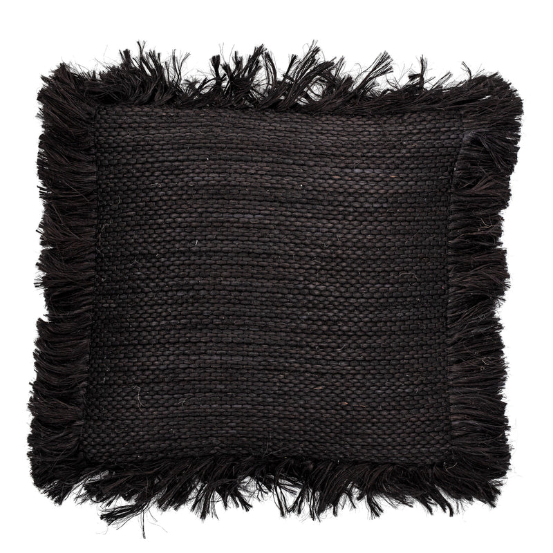 Jute Black Cushion