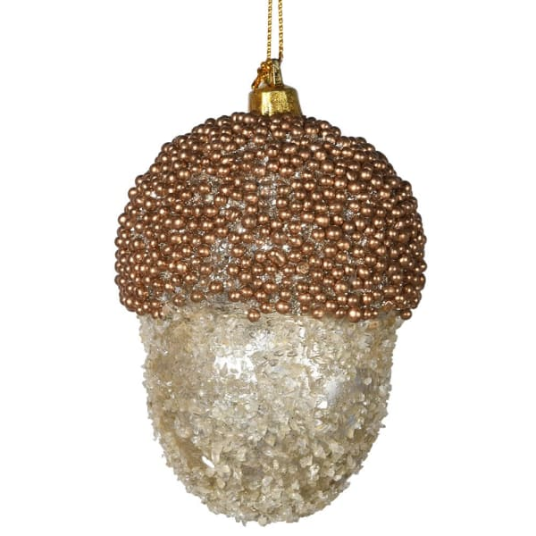 Gold Acorn Bauble
