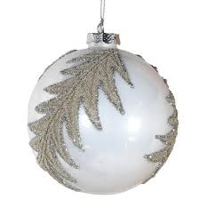 White Leaf Bauble