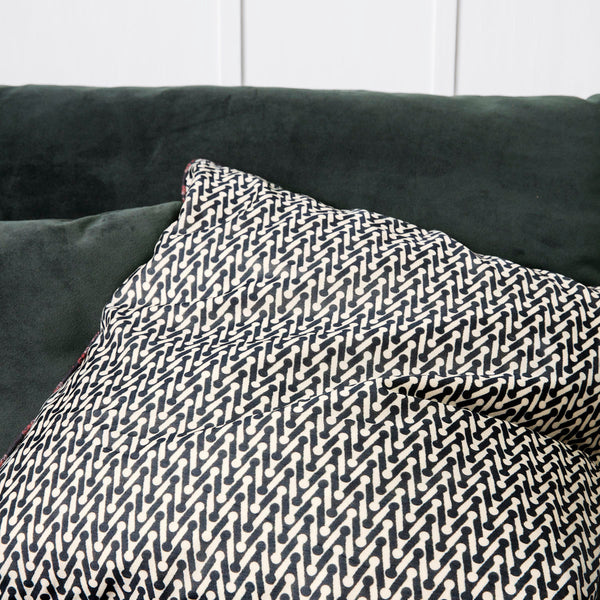 Grey and White Zig Zag Cushion