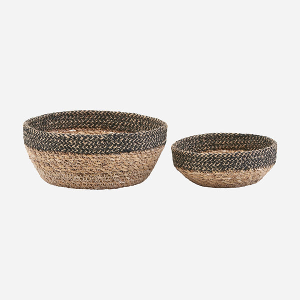 Black edged Basket Bowl Set