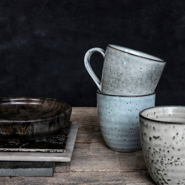 Rustic Mug Grey/Blue