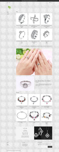 Fashion Silver Jewelry Dropshipping Store for Sale