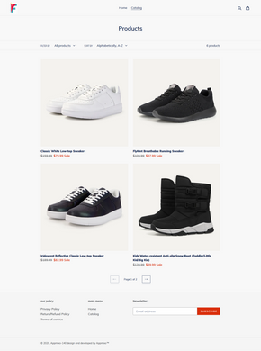 Sneaker Footwear Dropshipping Store for Sale