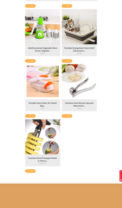 Kitchen Gadgets Dropshipping Store for Sale