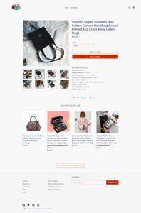 Women's Handbags Dropshipping Store for Sale