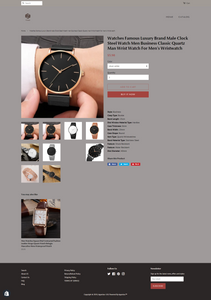 Men's and Women's Watch Dropshipping Store for Sale