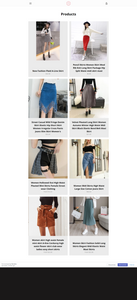 Women's Skirt Fashion Dropshipping Store for Sale