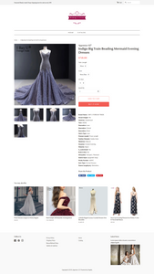 Wedding Wear Dropshipping Store for Sale