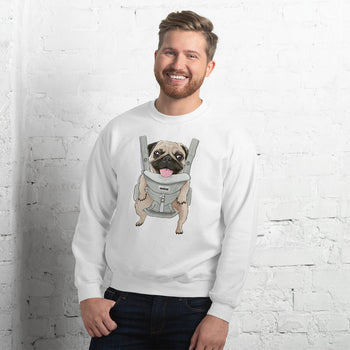 Cute Pug in Carrier Graphic Unisex Sweatshirt