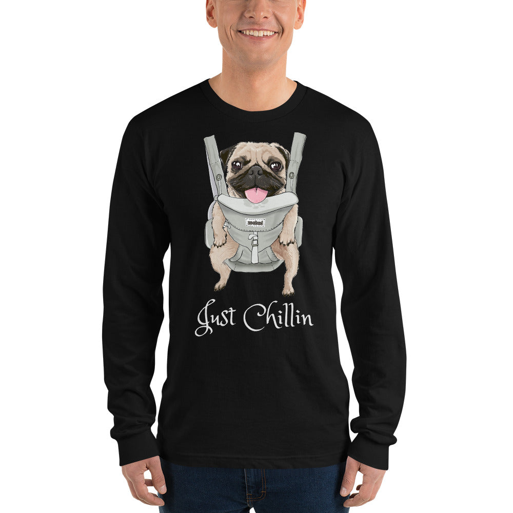 Long sleeve Just Chillin/Whats Up t-shirt