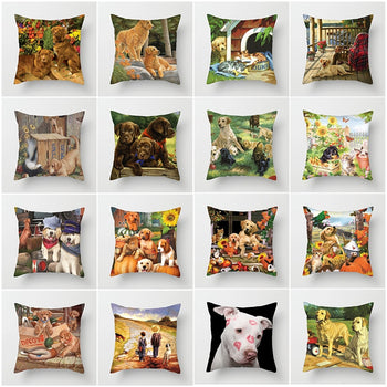 Cat and Dog Pillow Covers