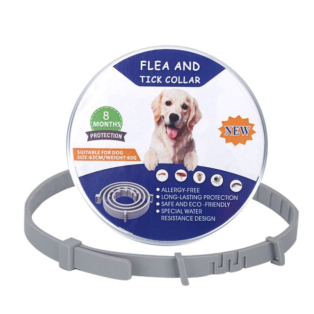 Pet dog Flea collar Adjustable with 8 Months Protection
