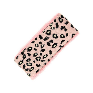 Pink Leopard Print Faux Fur Earmuff Pink Leopard Faux Fur Headband Ear Warmer, soft & fuzzy ear warmer will shield your ears from cold weather ensuring all day comfort, leopard pattern headband creates trendy look, both comfy & fashionable, fleece lining keeps you so extra toasty. Perfect Gift Birthday, Holiday, Christmas, etc