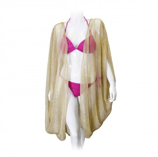 Shelby Sheer Crinkle Cover Up Cardigan Kimono Open Front