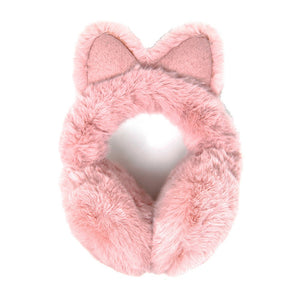 Luxurious Soft Pink Cat Ear Faux Fur Earmuffs Plush Pink Cat Ear Earmuffs, Posh hat-hair-free option to beanies/hats, so comfy/warm, fit securely around your head & against your ears. Stay cute & cozy this season with these muffs, the perfect cold weather accessory. Perfect Gift Birthday, Holiday, Christmas