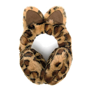 Plush Brown Leopard Print Cat Ear Faux Fur Earmuffs Cat Ear Earmuffs Brown Leopard Print Earmuffs, Plush hat-hair-free option to beanies/hats, so comfy/warm, fit securely around your head & against your ears. Stay cute & cozy this season with these muffs, the perfect cold weather accessory. Perfect Gift Birthday, Holiday, Christmas