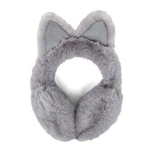 Luxurious Gray Cat Ear Faux Fur Earmuffs Plush Gray Cat Ear Earmuffs, Posh hat-hair-free option to beanies/hats, so comfy/warm, fit securely around your head & against your ears. Stay cute & cozy this season with these muffs, the perfect cold weather accessory. Perfect Gift Birthday, Holiday, Christmas