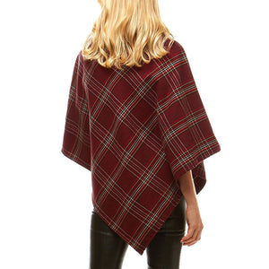 Cozy Warm Plaid Checkered Soft Faux Fur Collar Poncho, ensure your upper body stays perfectly toasty when the temperatures drop, classic, gently nestles around the neck and feels so comfortable to wear. An eye catcher, will become your favorite accessory, coordinates with all your winter outfits.  Ideal Holiday Gift