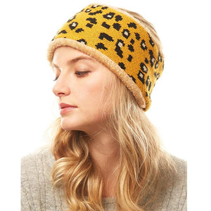 Leopard Print Faux Fur Earmuff Headband, soft & fuzzy ear warmer will shield your ears from cold weather ensuring all day comfort, animal pattern headband creates trendy look, both comfy and fashionable. The fleece lining keeps you so toasty you'll want to wear them everywhere. Perfect gift for a loved one or yourself!