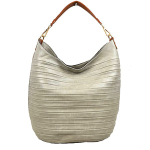 Best Seller - Vegan Long-lasting Striped Patch Faux Leather Shoulder Bag Hobo Tote, largely spaced, keep your essentials safe while having standout style, classic, you can take it to a school, work or a day trip, simple sophistication, coordinate with any ensemble from business casual to everyday wear. Perfect Gift for her