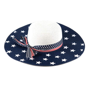 Red, White & Blue Vintage American Flag Floppy Summer Sun Hat, whether you're basking under the summer sun at the beach, lounging by the pool, or kicking back with friends at the lake, a great hat can keep you cool & comfortable. Sun Hat, Mother's Day Gift, Birthday Gift, Floppy Hat, Straw Hat, American Flag Hat
