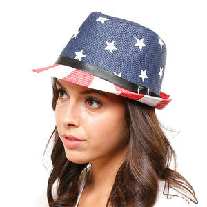 Red, White & Blue American Flag Fedora Hat, whether you're basking under the summer sun at the beach, lounging by the pool, or kicking back with friends at the lake, a great hat can keep you cool & comfortable even when the sun is high in the sky. Protect your skin: Beach, Vacation, Pool, Stroll, Sun, Running Errands