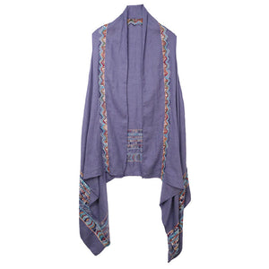 Blue Aztec Pattern Embroidered Kimono Accent your look with this soft lightweight Aztec Embroidered Kimono, wear over your favorite blouse & slacks for a chic stylish look, use over your bathing suit, enjoy the beach or pool. Perfect Birthday Gift, Mother's Day Gift, Anniversary Gift, Beachwear, Thank you Gift, Aztec Cover-Up Kimono, Aztec Kimono Vest