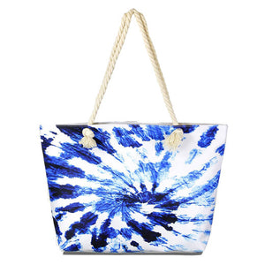 Vibrant Beach Bag great whether you are out shopping, going to the pool or beach, this bright tote bag is the perfect accessory. Spacious enough for carrying all your essentials. Great Beach, Vacation, Pool, Birthday Gift, Anniversary Girl, Trendy Blue Tie Dye Beach Bag, Soft Rope Handles The Must Have Accessory!