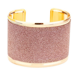 Shimmery Textured Wide Rectangular Cuff Bracelet Glittery Cuff Bracelet, jewelry that fits your lifestyle, adding a pop of pretty color. Add some sparkly fun to your attire with this beautiful modish cuff, wear from day to night with ease. Perfect Gift Birthday, Holiday, Christmas, Valentine's Day, Just Because
