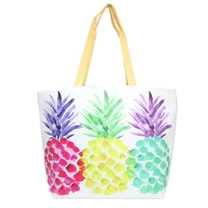 Pineapple Tote Bag great if you are out shopping, going to the pool or beach, this bright pineapple beach bag is the perfect accessory. Spacious enough for carrying all your essentials. Great for Beach, Vacation, Pool, Perfect Birthday Gift, Anniversary Gift, Thank you Gift, Just Because Gift, Pineapple Shopper Bag