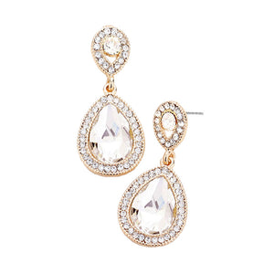 Classic Elegant Victorian Crystal Rhinestone Teardrop Evening Earrings Special Occasion, perfect set of sparkling earrings, pair these glitzy studs with any ensemble for a polished & sophisticated look. Perfect Gift Birthday, Holiday, Christmas, Valentine's Day, Anniversary, prom, wedding, sweet 16, Quinceanera, etc