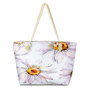 Daisy Beach Bag great whether you are out shopping, going to the pool or beach, this bright tote bag is the perfect accessory. Spacious enough for carrying all your essentials. Great Beach, Vacation, Pool, Birthday Gift, Anniversary Girl, Floral Shopper Bag, Daisy Tote Bag, Soft Rope Handles The Must Have Accessory!