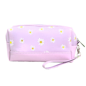 Lavender Floral Cosmetic Pouch Bag Daisy Cosmetic Pouch bag has many uses, place your makeup, use as a cosmetic bag, use as a students pencil case, essential oil case or drop in your bag & put phone, keys, coins, credit card, etc. Perfect Birthday Gift, Mother's Day Gift, Anniversary Gift, Vacation Getaway, Thank you Gift, complete your Easter Ensemble