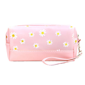 Pink Floral Cosmetic Pouch Bag Daisy Cosmetic Pouch bag has many uses, place your makeup, use as a cosmetic bag, use as a students pencil case, essential oil case or drop in your bag & put phone, keys, coins, credit card, etc. Perfect Birthday Gift, Mother's Day Gift, Anniversary Gift, Vacation Getaway, Thank you Gift, complete your Easter Ensemble