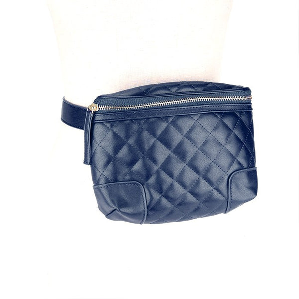 Vegan Belt Bag Faux Leather Belt Bag Quilted Stitch Belt Crossbody Bag, Quilted-stitched textures, Vegan, Belt Bag, waist, crossbody bag, Strap, One Small Interior Inside Zipper Pocket, Zipper Closure keep all your items safe! Perfect Gift Birthday, Christmas, Holiday, Valentine's Day, Going to Game, Concert, Touring
