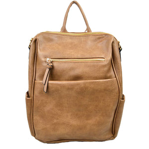 Kimi Vegan Long-lasting Multi Pocket Faux Leather Backpack
