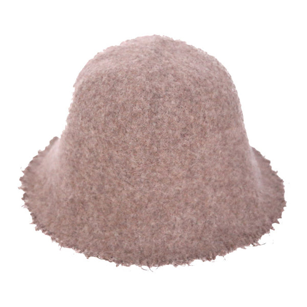 Chic Wool Felt Frayed Edges Bucket Hat Vintage Wool Fedora Bucket Hat beautiful, timeless & classic bucket hat looks cool & elegant. Perfect for that bad hair day, rainy day or just casual everyday wear, pairs superbly well with any ensemble; Perfect Gift Birthday, Holiday, Christmas, Anniversary, Valentine's Day, Loved One