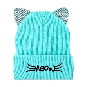 Soft, Cozy Meow Solid Stone Mint Cat Ear Beanie Hat Mint Cat Ear Hat Stone Hat Winter Hat, reach for this toasty hat to keep you incredibly warm when running out the door. Accessorize with this cat ear hat, it's the autumnal touch finish your outfit in style. Best Gift Birthday, Christmas, Night Out Cold Weather, Valentine's Day