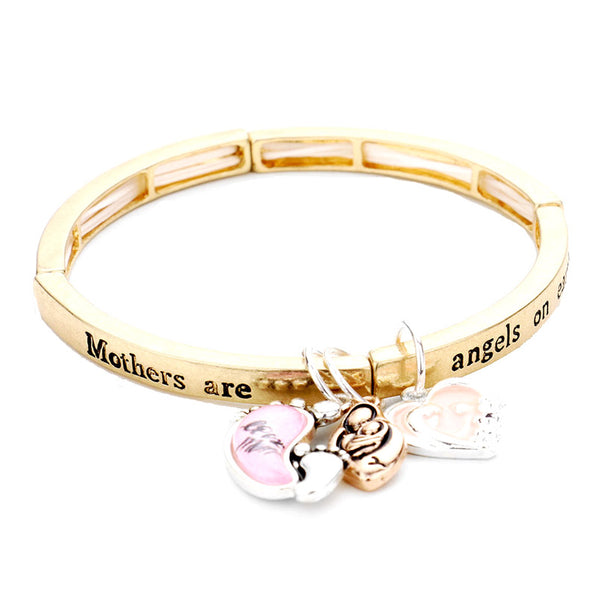 Mothers are Angels on Earth Charm Bracelet Angel Mom Charm Bracelet wear with your favorite tops & dresses! Show mom how appreciated & loved she is with this fabulous gift. Perfect for Birthday Gift, Mother's Day Gift, Thank you Gift, Just Because! Regalo Dia de las Madres, Regalo para Mama, Grandma Gift, Regalo Abuela