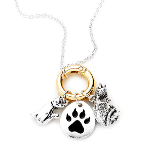 Gold-Silver metal cat paw Necklace, Metal Cat Paw Pendant Necklace Metal Cat Paw Necklace Cat Necklace this beautiful cat themed charm necklace are the perfect gift for the woman in our lives who love cats. Perfect gift for National Cat Day, Birthday Gift, Anniversary Gift, Mother's Day Gift, Just Because Gift, Cat Lover, #catmom