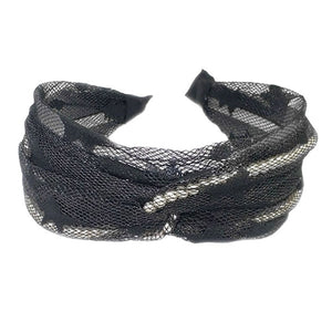 Black Mesh Headband with Pearls, Pearl Mesh Headband Pearl Accent Headband Pearl Headband the perfect amount of pearls to dress up your tresses with this fabric design, wide band  and knotted top. Be the ultimate trendsetter wearing this chic headband with all your stylish outfits! Perfect Birthday Gift, Mother's Day Gift, Prom, Graduation Gift