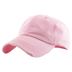 Pink Distressed Baseball Cap, Pink Vintage Ponytail Baseball Cap, comfy vintage cap great for a bad hair day, pull your bun or ponytail thru the back opening, great for keeping your hair away from face while exercising, running, playing sports or just taking a walk. Perfect Birthday Gift, Mother's Day Gift, Anniversary Gift, Thank you Gift, Graduation