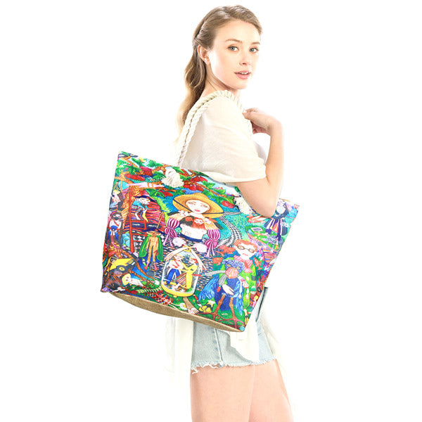Psychedelic Future Imaginary Painting Print Beach Tote Bag Shopper Bag Vibrant Beach Bag whether you are out shopping, at the pool or beach, this bright tote bag is spacious enough for carrying all your essentials. Birthday Gift, Anniversary Gift, Psychedelic Future Imaginary Print Beach Tote Bag Shopper Bag, Mother's Day Gift, Thank you Gift, Comfy Rope Handles The Must Have Accessory!