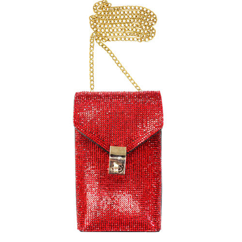 Red Crossbody Bag, Sparkling stones adorn sides of this lustrous style, adds a romantic & glamorous touch Great wedding, prom, sweet 16, Quinceañera, hands-free dance the night away. Phone Bag to keep your phone at hand. Perfect Birthday Gift, Valentine's Day Gift, Anniversary Gift, Mother's Day Gift, Thank you Gift