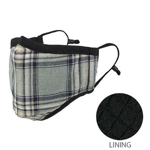 Check Plaid Mask 2 Layer Check Mask Checkered Plaid Mask Plaid Warm Face Mask, the ever so classic plaid print, elegantly matches your work & casual wardrobe. The double layer keeps you warm in the wintry weather. Look stylish while being safe. Perfect Gift Birthday, Christmas, Holiday, Anniversary, Stocking Stuffer etc